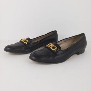 Salvatore Ferragamo | Black Slipon Flats Size 7.5
